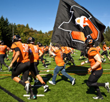 Photo of the Lewis & Clark football team
